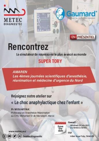 Participation Metec Diagnostic aux 4èmes journées scientifiques d'anesthésie, réanimation et médecine d'urgence du nord